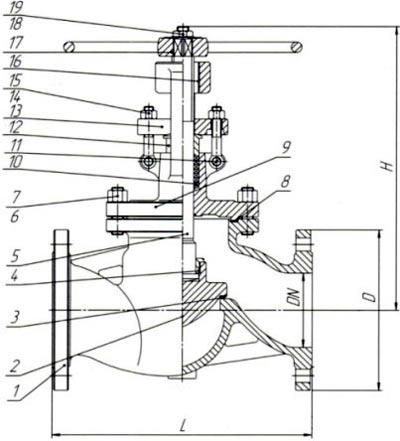 15с65п клапан запорный