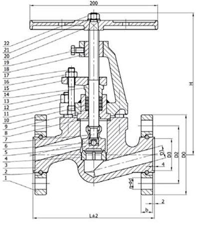 15с52нж10 клапан запорный