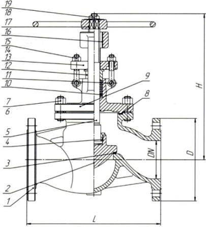 15нж18нж1 клапан запорный