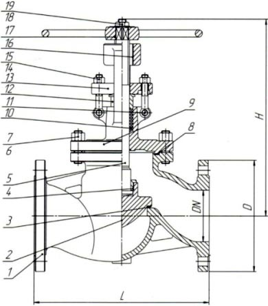 15нж18п клапан запорный