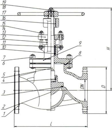 15нж18п1 клапан запорный