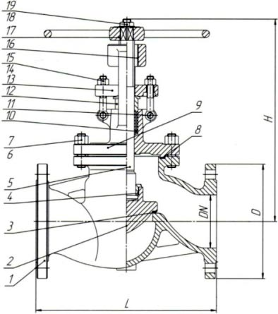 15нж22п клапан запорный