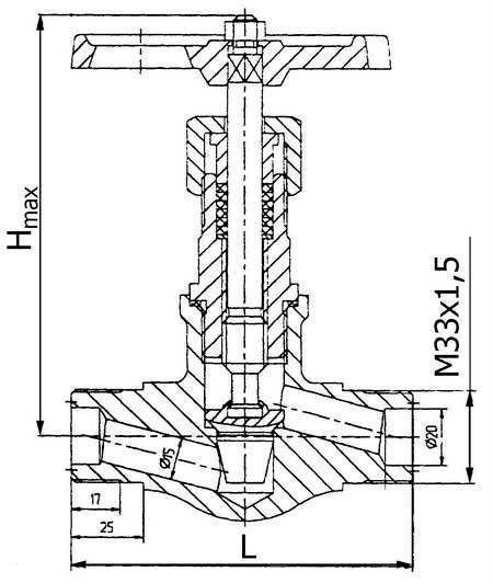 15с54бк1 клапан игольчатый
