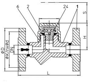 конденсатоотводчик фланцевый